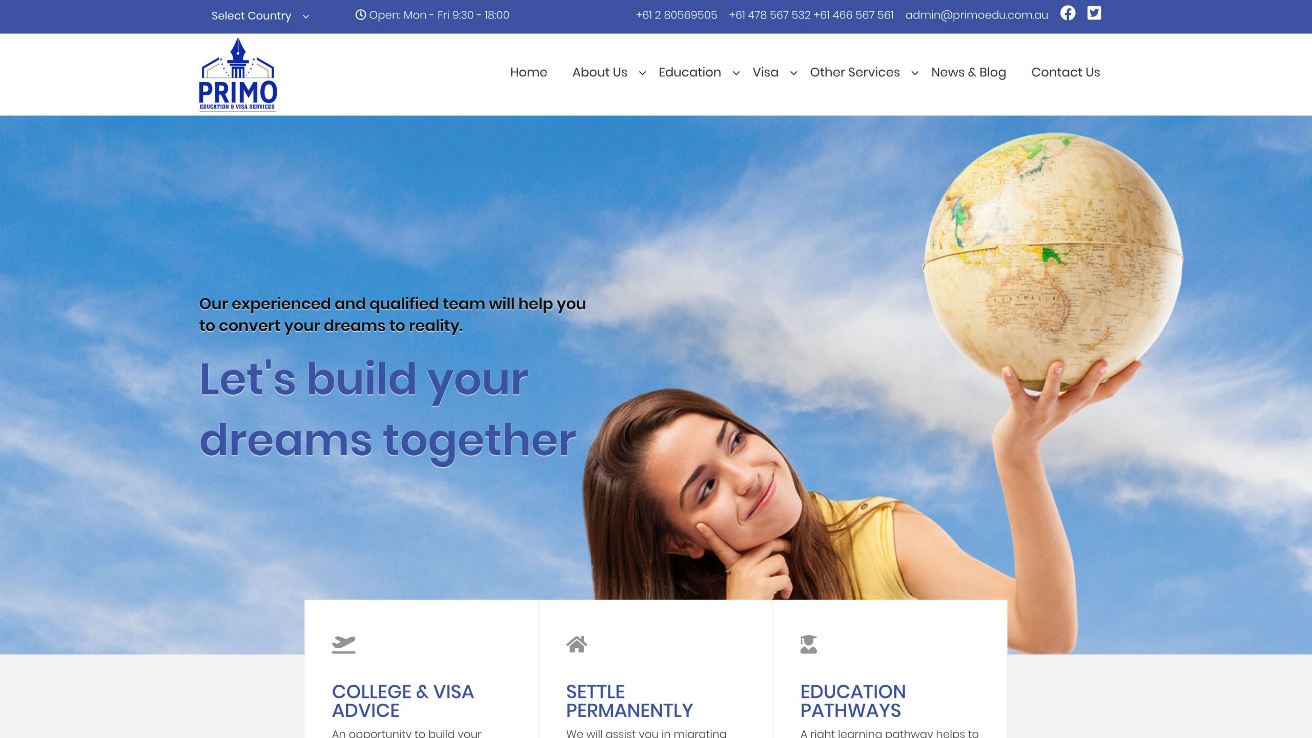 Primo Education and Visa Services